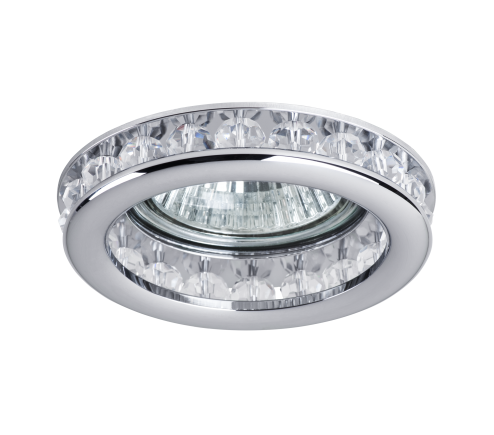 Recessed decorative spot luminaire for replaceable halogen or LED lamps  031704