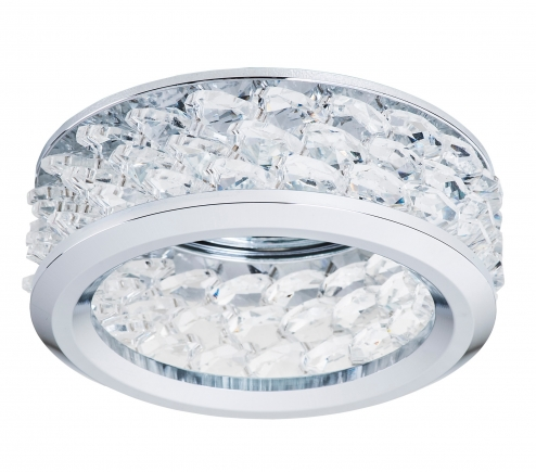 Recessed decorative spot luminaire for replaceable halogen or LED lamps  031804