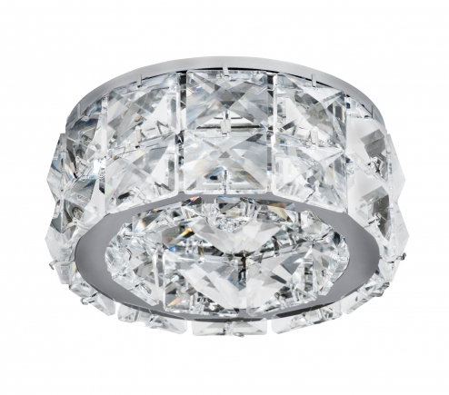 Recessed decorative spot luminaire for replaceable halogen or LED lamps  032804