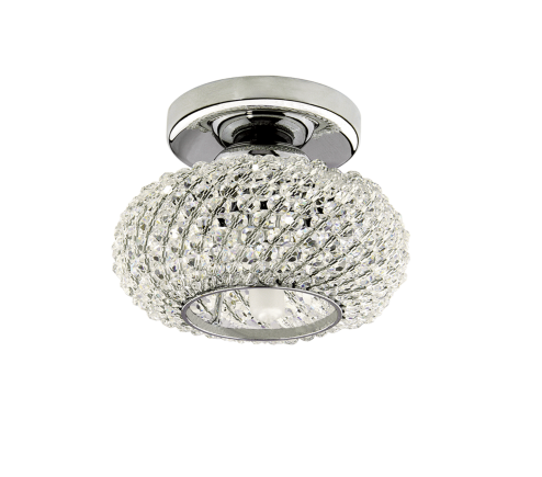 Surface mounted decorative spot luminaire for replaceable halogen or LED lamps 160304