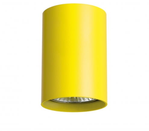 Surface mounted decorative spot luminaire for replaceable halogen or LED lamps 214433