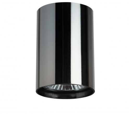 Surface mounted decorative spot luminaire for replaceable halogen or LED lamps  214438