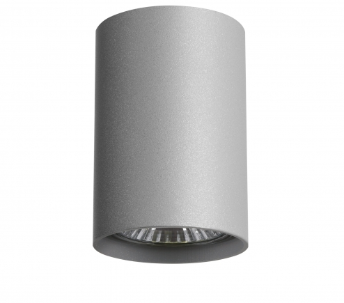 Surface mounted decorative spot luminaire for replaceable halogen or LED lamps 214439