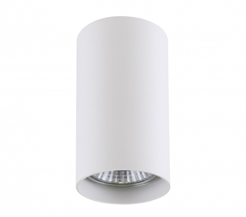 Surface mounted decorative spot luminaire for replaceable halogen or LED lamps 214486