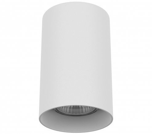 Surface mounted decorative spot luminaire for replaceable halogen or LED lamps 216486