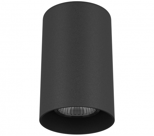 Surface mounted decorative spot luminaire for replaceable halogen or LED lamps 216487